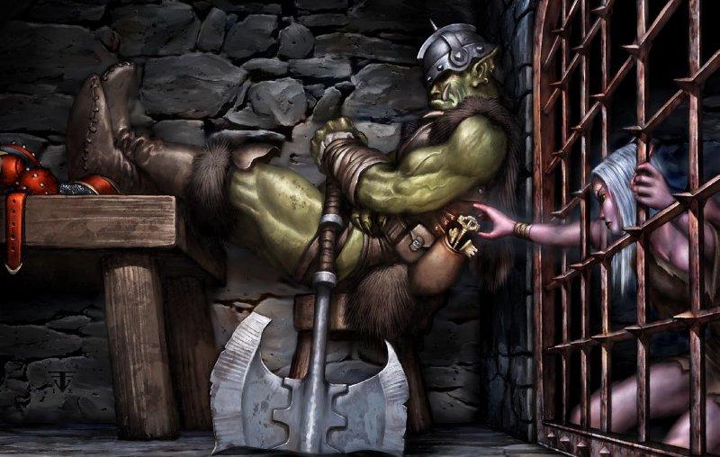 Орки трахают темных эльфов порно онлайн